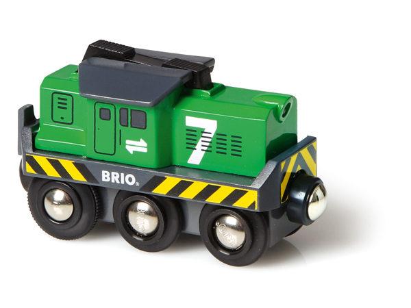BRIO Vihreä rahtiveturi, paristokäyttöinen