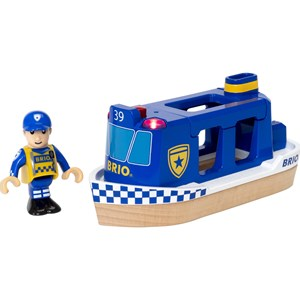 BRIO BRIO World - 33820 Police Boat 3 - 7 years