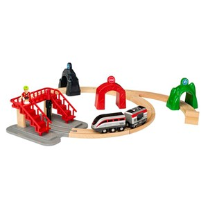 BRIO BRIO World - 33873 Smart Tech Engine Set with Action Tunnels