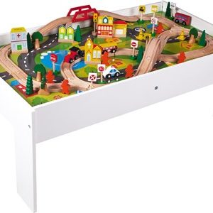 STOY White Wood Train Table