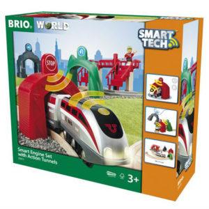 BRIO WORLD Smart tech -setti ja tunnelit