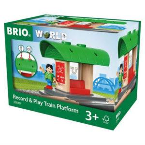 BRIO WORLD Tallenna ja toista -junalaituri