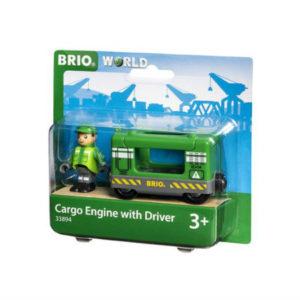 BRIO WORLD Tavarajunan veturi ja kuljettaja