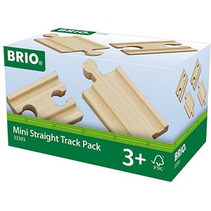 BRIO BRIO World - 33393 Mini Straight Track Pack 3 - 8 years