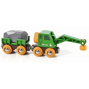 BRIO BRIO World - 33698 Clever Crane Wagon 3 - 6 years